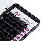 Seidenwimpern - Einzelwimpern - C Curl - Silk Lashes - Stärke 0.10 mm - Mix 10-13 mm - Wimpernverlängerung - 8 Streifen - Wimpanista