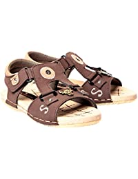 Premium Good Quality Comfortable Brown Casual Daily Wear Velcro Sandals Floaters For Kids Boys By Trilokani Footwear …
