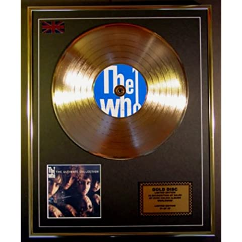 THE WHO/EDIZIONE LTD CD DISCO D'ORO/DISCO/CD GOLD DISC/RECORD/COA/ALBUM/THE ULTIMATE COLLECTION