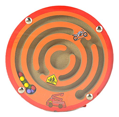 [Kreis] Kinder-Holz-Spielzeug Preschool Maze Puzzle-Brettspiel-Familien-Spiel