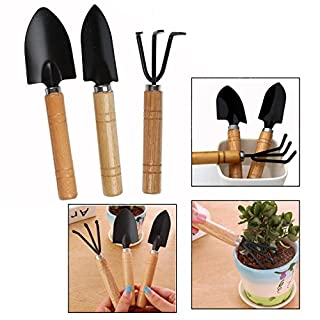 OFKPO 3 Stück Mini Gartenwerkzeug Set,Gartengeräte Garten Pflanze Werkzeug