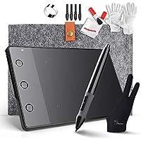 """HUION H420 4""""x 2.23"""" USB Grafik Zeichnung Tablet-Brett mit Digitale Stift 10"""" Wolle-Zwischenlage-Beutel Zwei Finger Anti-Fouling-Handschuh und Reinigungs Kits"""