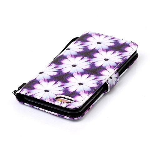 Sunroyal® iPhone 6 Plus (5.5) Bookstyle Étui Housse en PU Cuir Case à Rabat Portefeuille Swag pour Apple iPhone 6 Plus / iPhone 6s Plus (5.5 Pouces) Coque de Protection avec Stand Intérieur TPU Silico B-10