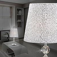 MIA Schirm Tisch Leuchte ↥265mm// Stoff// Retro// Blau// Textil// Keramik// Nacht Lamp