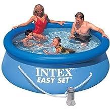 Intex Easy Set - Piscina, 244 x 76 cm, con depuradora (filtro tipo H)