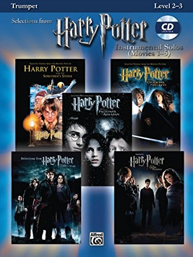 Harry Potter Movies 1-5, w. Audio-CD, for Trumpet (Harry Potter Instrumental Solos (Movies 1-5): Level 2-3) (Hary Potter Instrumental Solos)