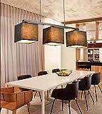 LED-Lampen kreative amerikanisches Land Stoff moderne minimalistische Esstisch Wohnzimmer Schlafzimmer Den Nordic Kronleuchter ( farbe : Schwarz )