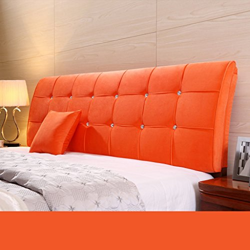 Dossier De Chevet Pure Color Bedhead Soft Protector Sac souple Double oreiller au couché au lit Design ergonomique Bonnet grand lit Lumbar 62 * 180cm (Couleur : E)