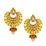 Being Women Gold Antique Royal Alloy Ear...