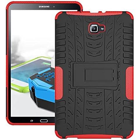 DBIT Galaxy tab A 10.1 funda, Alta calidad Escabroso Durable Estuche protector TPU/PC funda carcasa case con pata de cabra para Galaxy tab A 10.1 2016