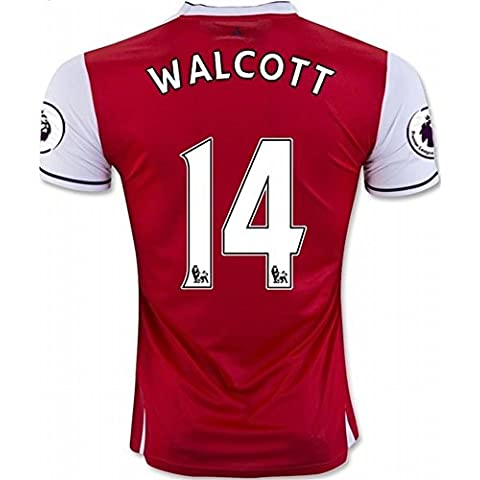 2016 2017 Arsenal 14 Theo Walcott Home Football Soccer Jersey In Red For New Season