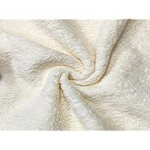 Tessuto Pelliccia Sintetica Agnellino altezza 140 cm per abbigliamento, pelliccia AL METRO (Al Metro, AVORIO)