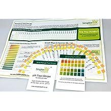 Simplex Health PH Doble Tiras Reactivas STIX A Test Orina & Saliva (25 TIRAS )