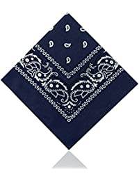100% cotton High-Quality Paisley & Plain Bandana