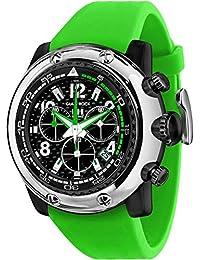 Glam Rock Miami Beach Herren 50mm grün Silikon Band Polycarbonat Fall Quarz Schwarz Zifferblatt Armbanduhr gr20144