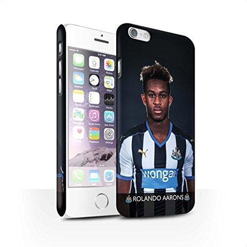 Offiziell Newcastle United FC Hülle / Matte Snap-On Case für Apple iPhone 6S / Pack 25pcs Muster / NUFC Fussballspieler 15/16 Kollektion Aarons