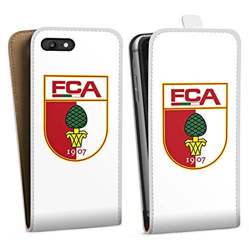 Apple iPhone X Silikon Hülle Case Schutzhülle FC Augsburg Fanartikel Fussball Downflip Tasche weiß
