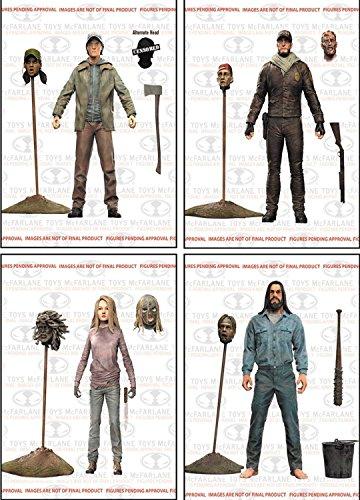 (Walking Dead Comic Book Series 5: Neegan, Glenn, Shane, & Lydia Action Figure Set of 4 by Unknown)