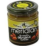 MERIDIAN - Beurre d'amandes 100% sans huile de palmier - Sans Gluten - Vegan - 170 gr - en pot de Verre