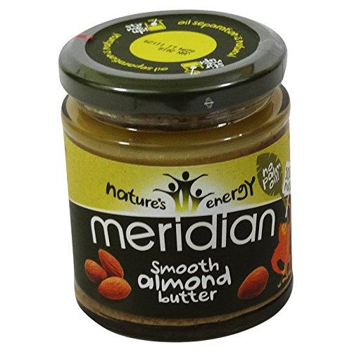 MERIDIAN - Burro di mandorle 100% senza olio di palma - Senza Glutine - Vegano (Burro Biologico Nocciola)