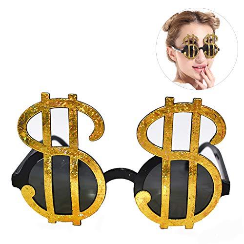 Zoylink Party Brillen Lustige Gläser Kreative Dollar Form Kostüm Gläser