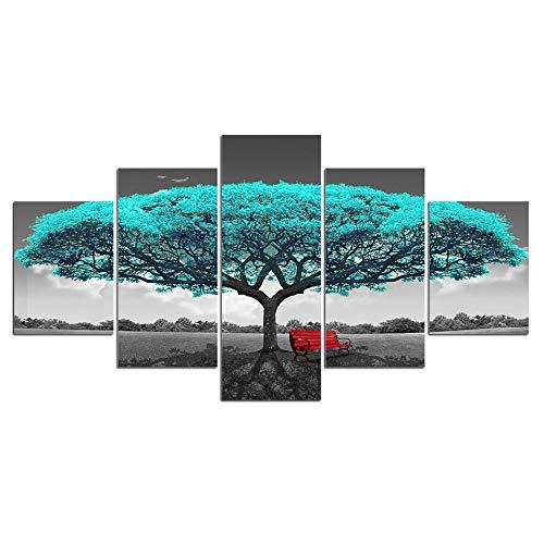Fbhfbh Kunst, Die Moderne Unbedeutende Malerei Des Wachsenden Baumsofahintergrundwandbild-Wohnzimmers Malt