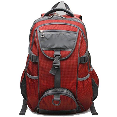 Leichtes Wandern Wasserdichte Rucksack Daypack Für Outdoor Sport,Red Red