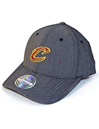 Mitchell   Ness Cleveland Cavaliers BH72G3 110 Curved Poly Heringbone NBA  Flexfit Snapback Cap One Size 602e9b6d4108