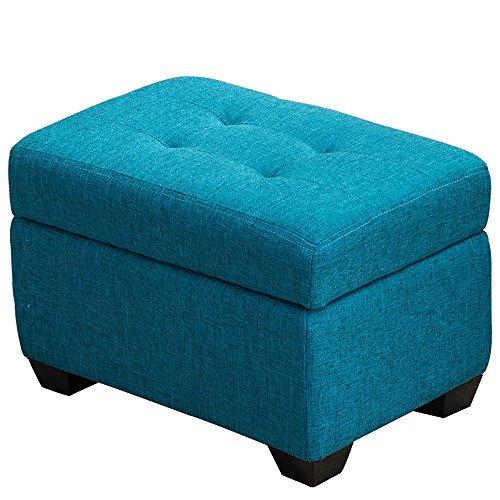 ZXQZ Tabouret coloré en Bois Solide/Tabouret de Chaussure de Foyer/Tabouret de Stockage de Chambre à Coucher (6 Couleurs facultatives) Repose-Pieds de Stockage (Couleur : Bleu, Taille : 40 * 60cm)