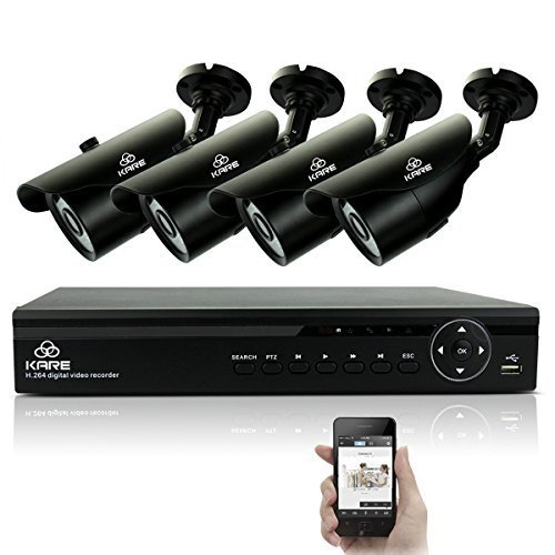 KARE-1080N-DVR-Recorder-with-4x-Super-HD-13MP-Outdoor-CCTV-Cameras-P2P-Technology-1280x960-Bullet-Cam-Even-Better-Than-720P-Rapid-USB-Storage-Backup-Vandal-and-Water-Proof-Body-Night-Vision-Mobile-App