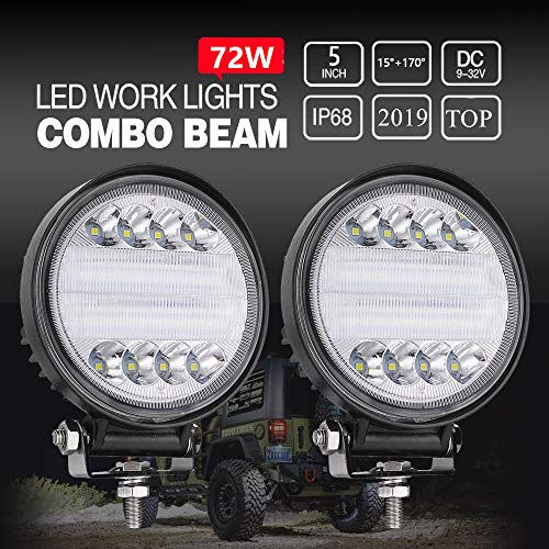FOREVERED - 2pcs Focos LED Tractor