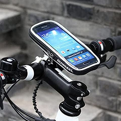 MaMaison007 ROSWHEEL bicicletas bicicleta Pannier marco frontal celular tubo bolsa -l negro