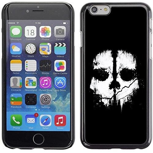 Graphic4You Crazy Music Skull Skeleton Design Harte Hülle Case Tasche Schutzhülle für Apple iPhone 6 Plus / 6S Plus Design #4