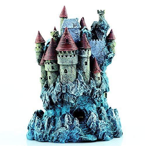 Decorazioni per acquari, acquario paesaggio creativo fantasia castello in resina gioielli pesce serbatoio decorazione