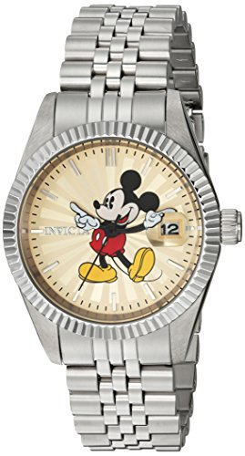 Invicta Women's 'Disney Edition' Quartz Stainless Steel Casual Watch, Color:Silver-Toned (Model: 22774)