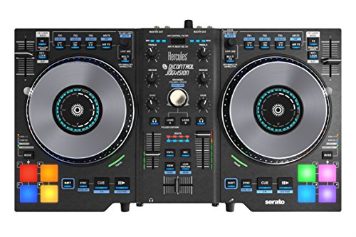 Hercules DJ Control Jogvision (2-Deck DJ Controller, Air Control, 8 Performance-Pads, Audio In/Out, Serato DJ Intro, PC/Mac)