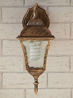 Antike Wand-Außenleuchte IP43 LE 2/1/871 aus Aluguss Außenlampe Wandleuchte Lampe Leuchte