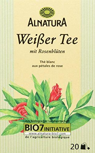 Alnatura Bio Weißer Tee mit Rosenblüten, 20 Beutel, 30 g