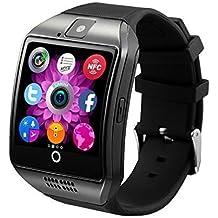San® - Montre téléphone connectée débloqué Bluetooth 3.0 - Ecran tactile IPS HD - Smartwatch Sport avec support carte Sim - Compatible android et apple
