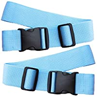 Lxquxing Outdoor Sports Luggage Straps Baggage Suitcase Adjustable Belt Travel Accessories Heavy Duty Long Cross Baggage Strap With Buckle Closure (Pack Of 2) Fitness