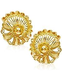 Senco Gold 22k (916) Yellow Gold Stud Earrings for Women