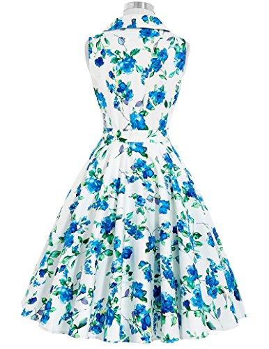 1950er Style Geburtstagkleider Knielang Sommerkleid L BP003-5 -