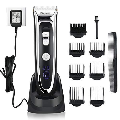 Tondeuse Cheveux - Morease Tondeuse à Cheveux et Barbe Professionnelle Electrique Pour Homme,Sans Fil, Rechargeable, Ecran LCD,28 Hauteurs de Coupe Réglables (0.8mm à 32.8mm)