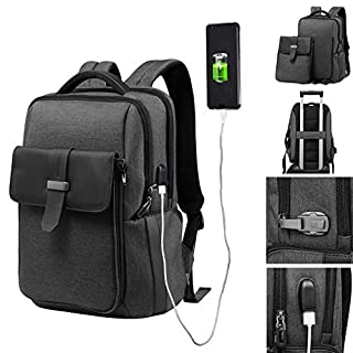 Voilamart Laptop Rucksack 2 in 1 Backpack,15.6