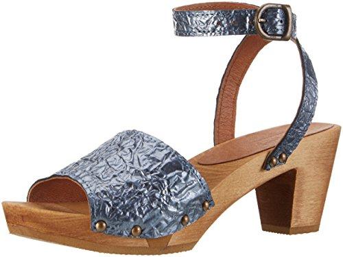 Sanita Birka Square Flex Sandal Scarpe col Tacco con Cinturino a T D0Q