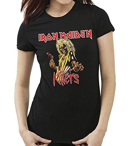 35mm - Camiseta Mujer - Iron Maiden - Killers - Women'S T-Shirt, NEGRA, L