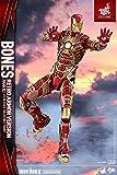 Hot Toys HT902963 Marvel Iron Man Mark XLI Bones Retro Armor Version Figure, Escala 1:6