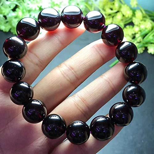 Burgund Korn (MGZDH Natürliche alte Material rot Granat Ein Kreis Armband Weiblichen Kristall sauberes und großes Korn Mode Damen)