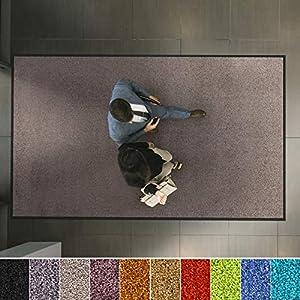 etm Hochwertige Fußmatte   schadstoffgeprüft   bewährte Eingangsmatte in Gewerbe & Haushalt   Schmutzfangmatte mit Top-Reinigungswirkung   Sauberlaufmatte waschbar & rutschfest (90x150 cm, Hellgrau)