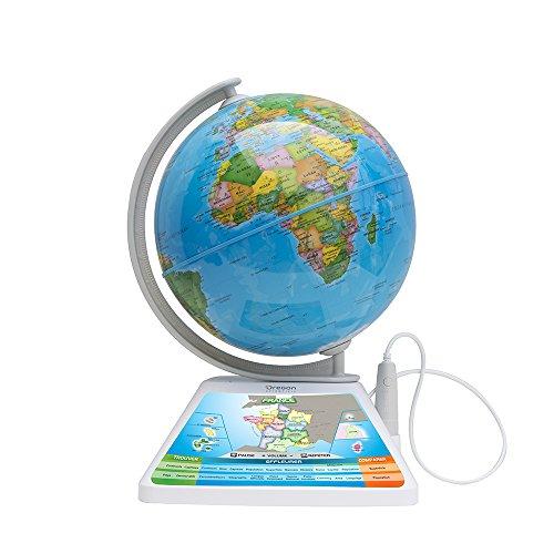 Oregon Scientific - SmartGlobe Adventure, pour Explorer Le Monde en 3D avec Réalité Augmentée - SG268R - Blanc